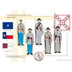 L'Infanterie du Texas, CSA, 1861-1865