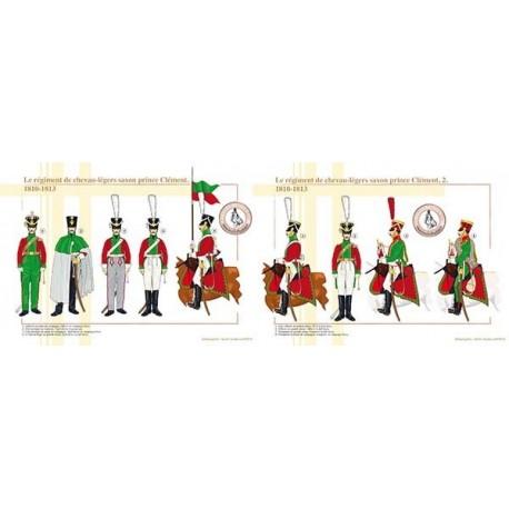 Le régiment de chevau-légers saxon prince Clément, 1810-1813