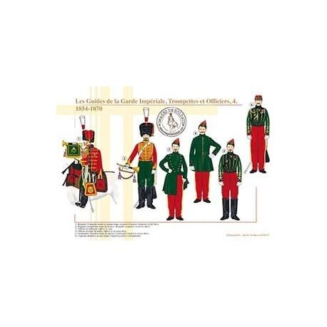 Les Guides de la Garde Impériale, Trompettes et Officiers (4), 1854-1870