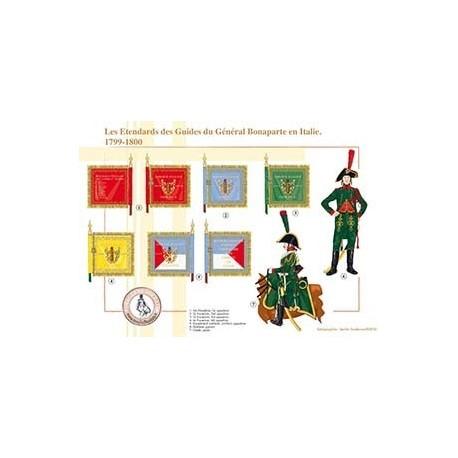 Les Etendards des Guides du Général Bonaparte en Italie, 1799-1800