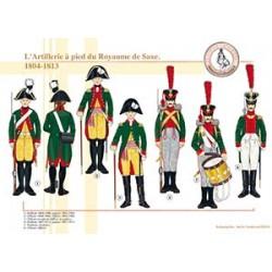 L'Artillerie à pied du Royaume de Saxe, 1804-1813