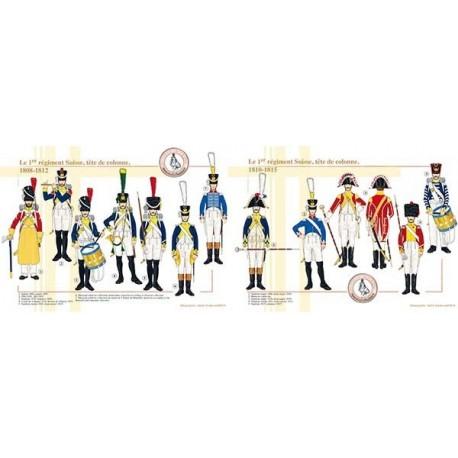 Le 1er régiment Suisse, tête de colonne, 1808-1815