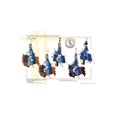 Les Hussards du Royaume de Saxe, 1791-1803