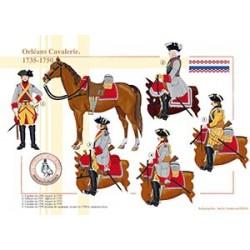 Orléans Cavalerie, 1735-1750