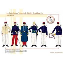 Les Bataillons d'Infanterie Légère d'Afrique (2), 1900-1914