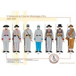 L'Infanterie de l'état du Mississippi, CSA, 1861-1865