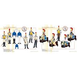 Les Carabiniers, troupe (2 et 3), 1810-1815