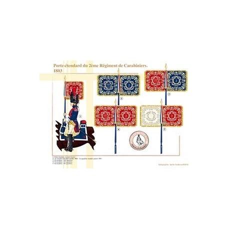 Porte-étendard du 2ème Régiment de Carabiniers, 1803