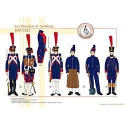 Les Ouvriers d'Artillerie, 1807-1812