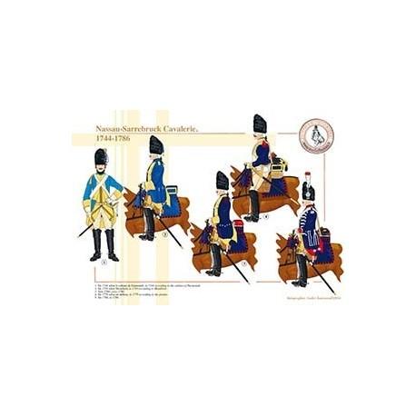 Nassau-Sarrebruck Cavalerie, 1744-1786