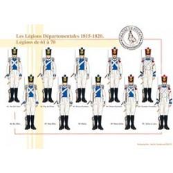 Les Légions Départementales, 1815-1820, Légions de 61 à 70