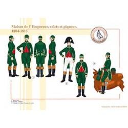 Maison de l'Empereur, valets et piqueur, 1804-1815