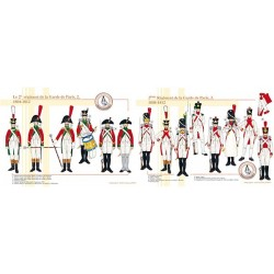 Le 2ème Régiment de la Garde de Paris (2 et 3), 1804-1812