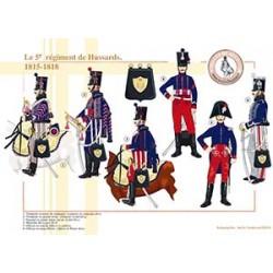 Le 5ème régiment de Hussards, 1815-1818