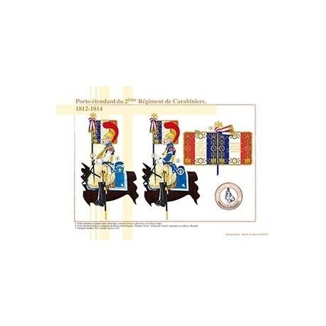 Porte-étendard du 2ème Régiment de Carabiniers, 1812-1814