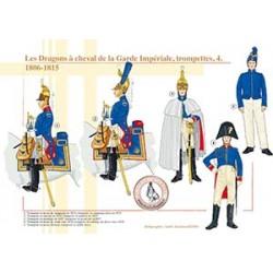 Les Dragons à cheval de la Garde Impériale, trompettes (4), 1806-1815