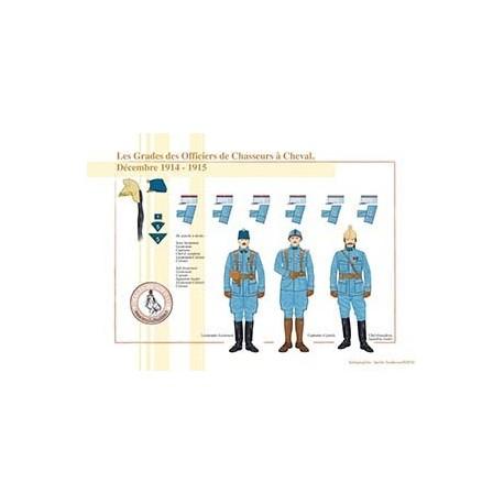 Les Grades des Officiers de Chasseurs à Cheval, Décembre 1914 - 1915