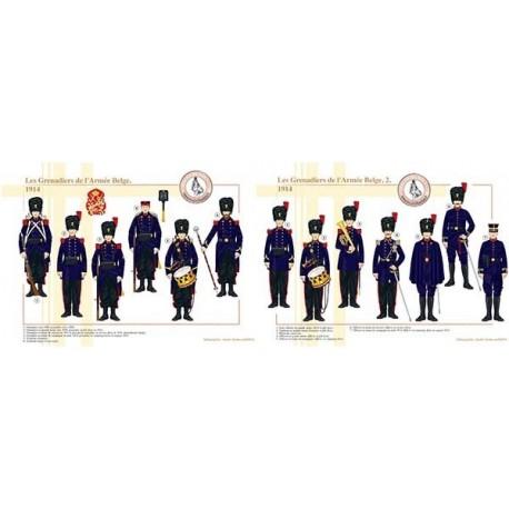 Les Grenadiers de l'Armée Belge, 1914