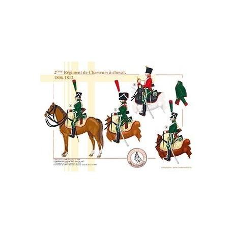 2ème Régiment de Chasseurs à cheval, 1806-1812
