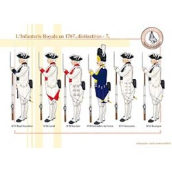 L'Infanterie Royale en 1767, distinctives (7)