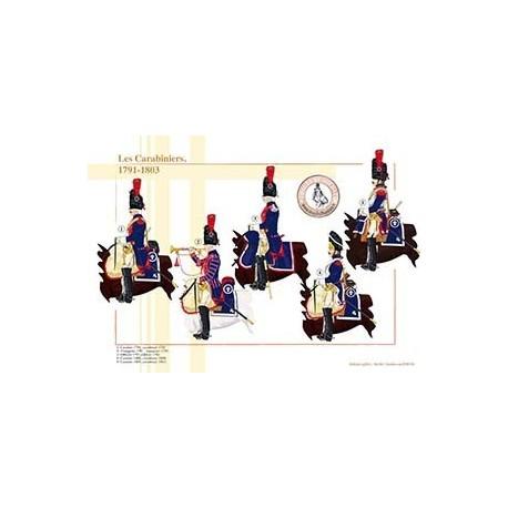Les Carabiniers, 1791-1803