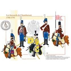 Les Hussards de Chamborant, 1786-1791