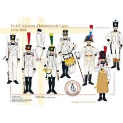 Le 16ème régiment d'Infanterie de Ligne, 1806-1808
