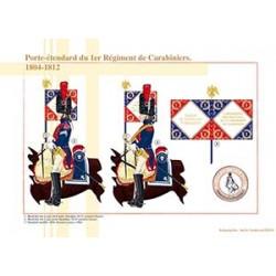 Porte-Etendard du 1er Régiment de Carabiniers, 1804-1812