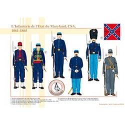 L'Infanterie de l'État du Maryland, CSA, 1861-1865