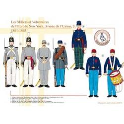Les Milices et Volontaires de l'état de New York, Armée de l'Union (3), 1861-1865