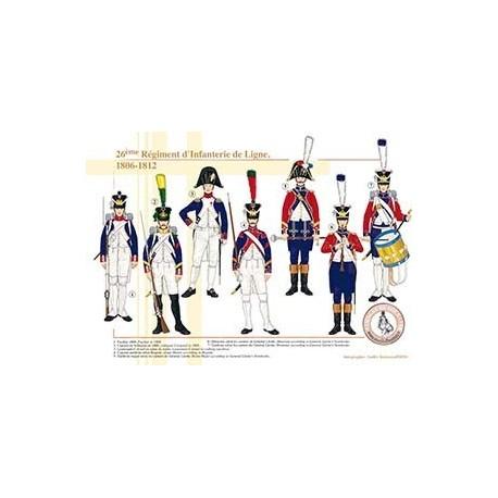 Le 26ème Régiment d'Infanterie de Ligne, 1806-1812