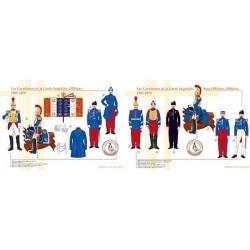 Les Carabiniers de la Garde Impériale, Sous-officiers et Officiers, 1865-1870