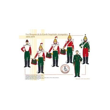 Les Dragons de la Garde Impériale, trompettes, 1854-1870