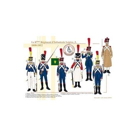 Le 8ème Régiment d'Infanterie Légère (2), 1808-1812