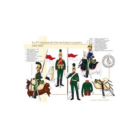 Le 1er régiment de Chevau-Légers Lanciers, 1811-1815