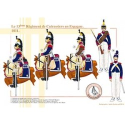 Le 13ème Régiment de Cuirassiers en Espagne, 1811