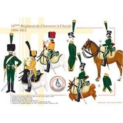 14ème Régiment de Chasseurs à Cheval, 1806-1812