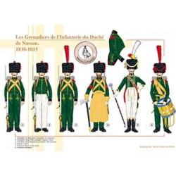 Les Grenadiers de l'Infanterie du Duché de Nassau, 1810-1815