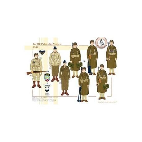 1er RCP dans les Vosges, 1944