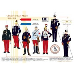 Officiers d'Etat-Major, 1900-1914