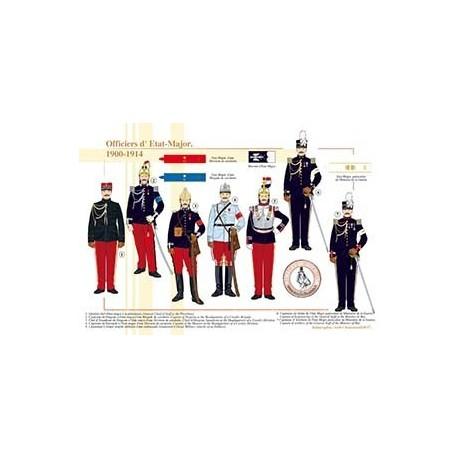 Officiers d'Etat-Major, 1900-1914