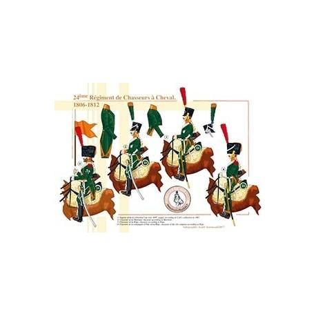 24ème Régiment de Chasseurs à Cheval, 1806-1812