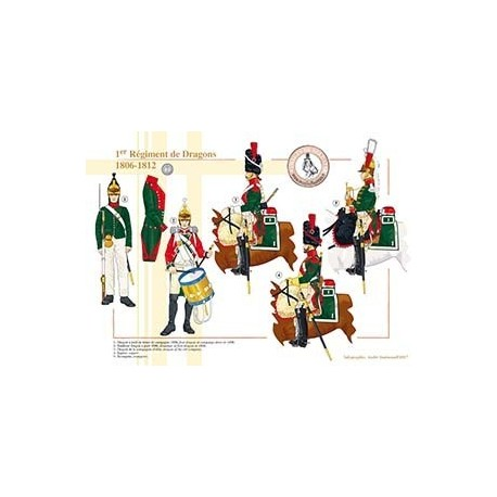 1er Régiment de Dragons, 1806-1812