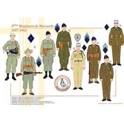 3ème Régiment de Hussards, 1957-1962