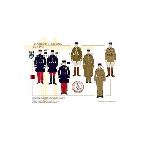 Les Officiers de Dragons, 1935-1940