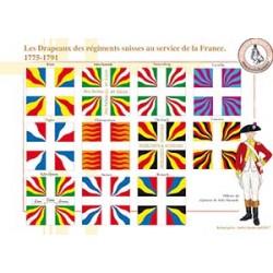 Les Drapeaux des régiments suisses au service de la France, 1775-1791
