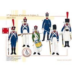 1er Régiment d'Infanterie Légère (2), 1813-1815