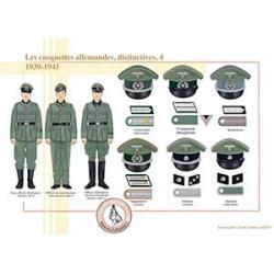 Les casquettes allemandes, distinctives (4), 1939-1945