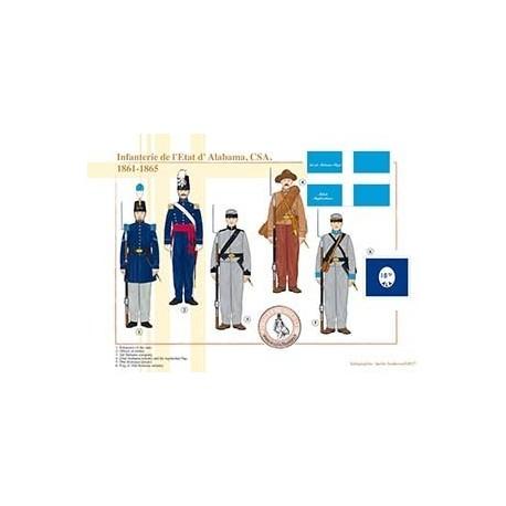 L'infanterie de l'État d'Alabama, CSA, 1861-1865