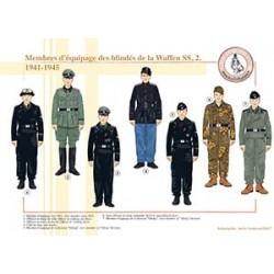 Membres d'équipage des blindés de la Waffen SS (2), 1941-1945
